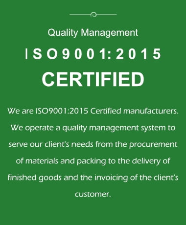 ISO certified quality management information