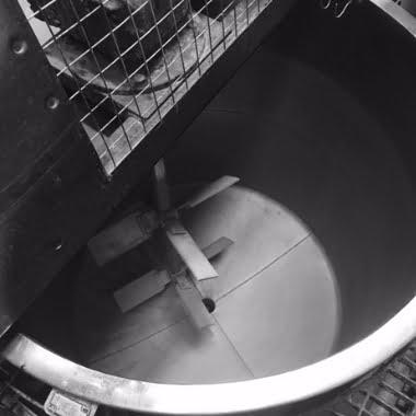 inside of mixing vessel in factory