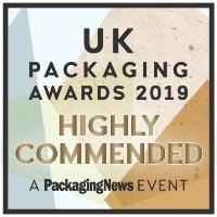 UK Packaging Awards Highly Commended 2019 logo