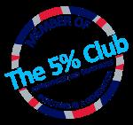 member of the 5% club logo