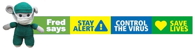 fred and coronavirus stay alert message
