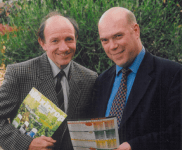 Martin Usher holding Grotech promotional literature