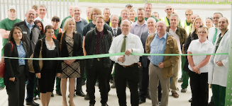 grotech staff and customers at the opening of the new warehouse