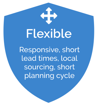 responsive, short lead times, local sourcing, short planning cycle
