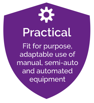 fit for purpose adaptable use of manual, semi auto and automated equipment