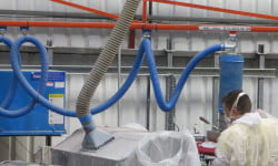 new palamatic sack lifter in operation in the grotech factory