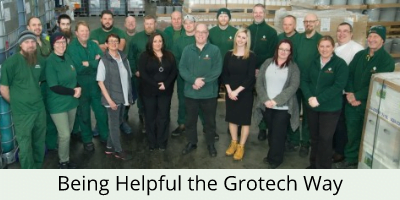 grotech staff in the warehouse