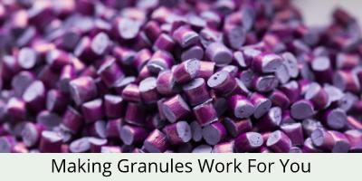 close up of granules