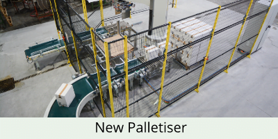 new grotech palletiser seen from above